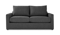 Harper Full Sofa Bed with Innerspring Mattress - Charcoal