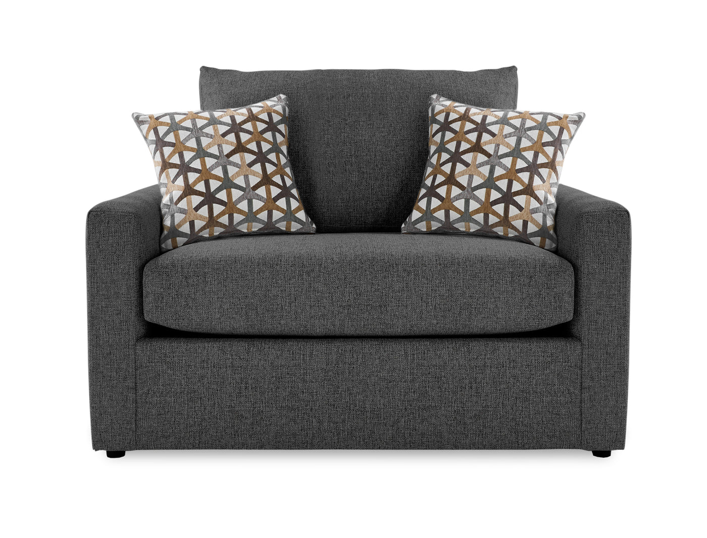 Harper Twin Sofa Bed with Innerspring Mattress   Charcoal ...