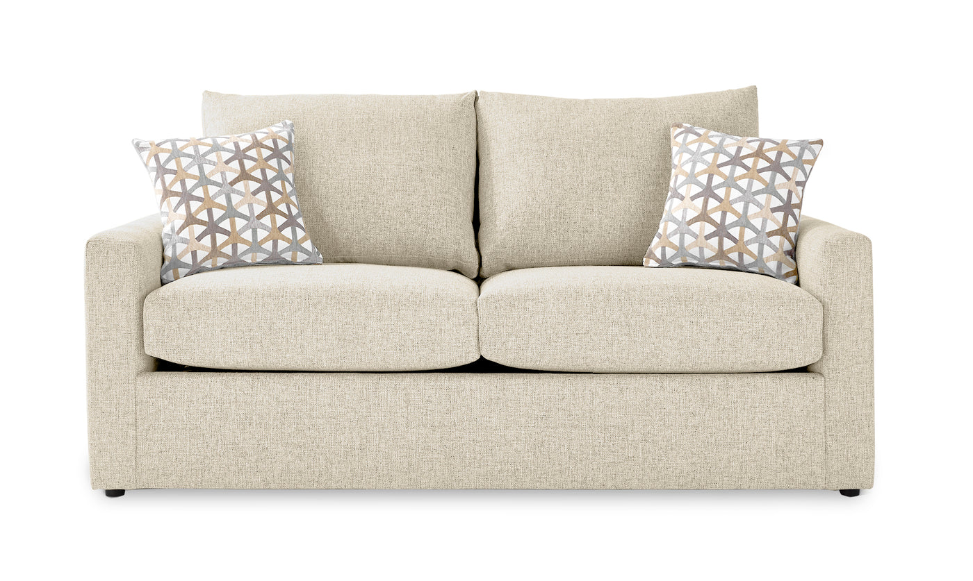 Picture of: Harper Full Sofa Bed With Innerspring Mattress Cream Leon S