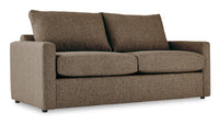 Harper Queen Sofa Bed with Innerspring Mattress - Brown