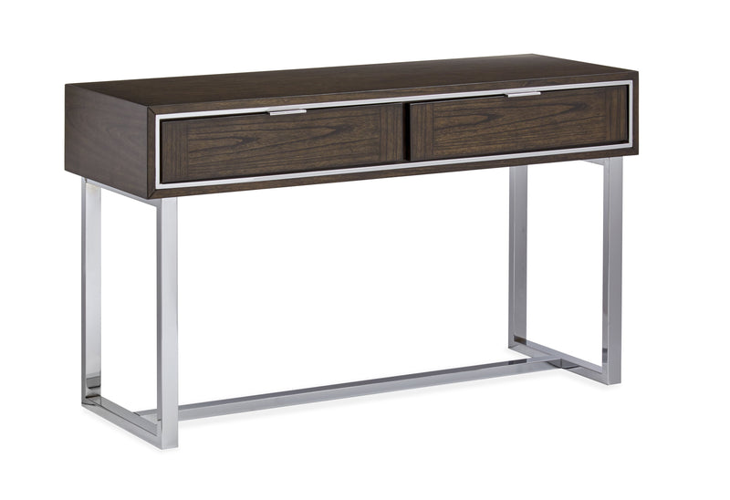 Corvin Sofa Table - Walnut and Chrome