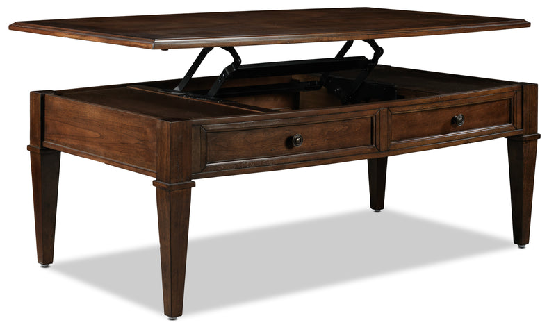 Wilton Lift-Top Coffee Table - Cherry