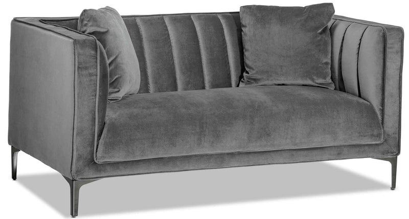 Celina Loveseat - Light Grey