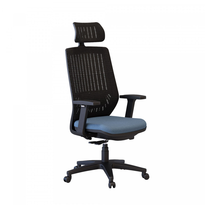 Noah Office Chair - Blue Sapphire