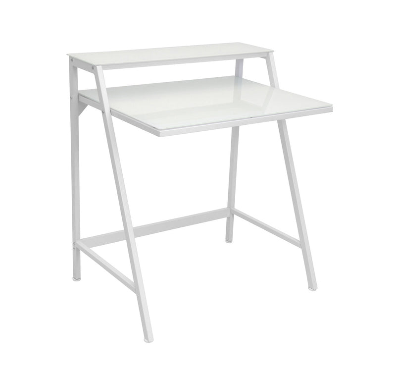 2-tier Contemporary Desk - White
