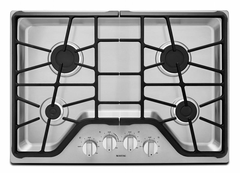 "Maytag Stainless Steel 30"" Gas Cooktop - MGC7430DS"