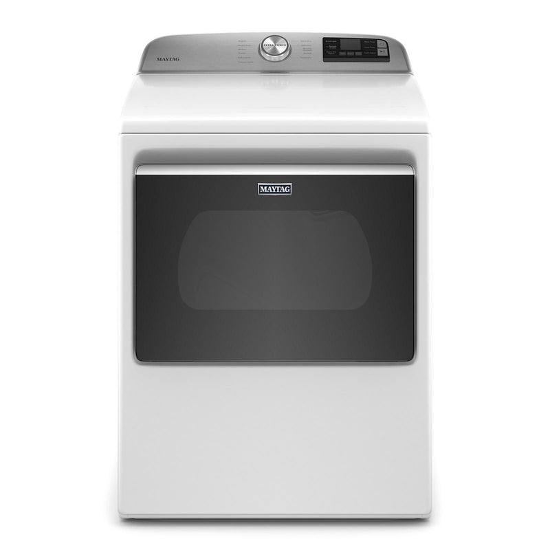 Maytag White Smart Electric Dryer (7.4 Cu.Ft.) - YMED6230HW