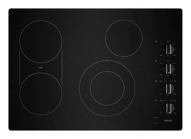 "Maytag Black 30"" Electric Cooktop - MEC8830HB"