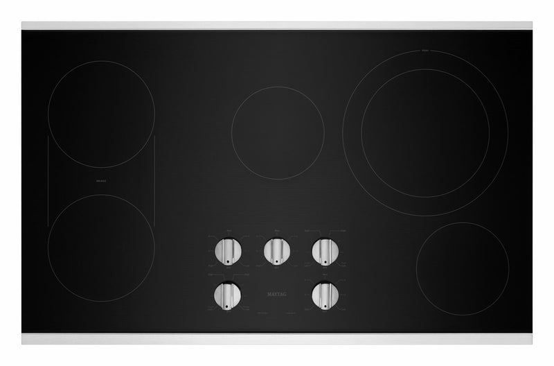 "Maytag Stainless Steel 36"" Electric Cooktop - MEC8836HS"