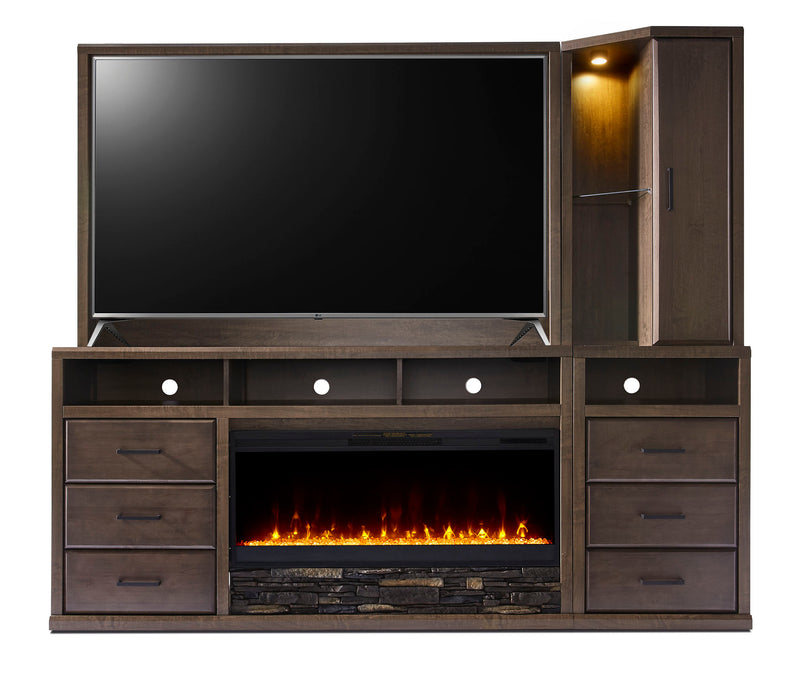 Duncan 5-piece Entertainment Wall Unit - Light Brown