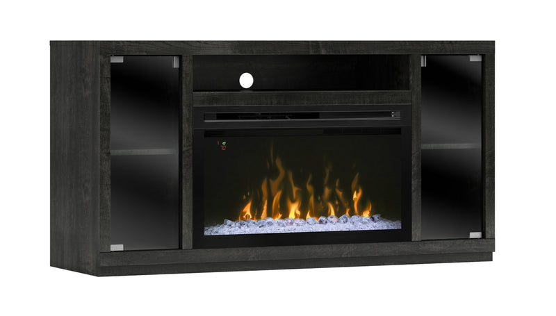 Ashley Fireplace TV Credenza with Dimplex Insert - Driftwood