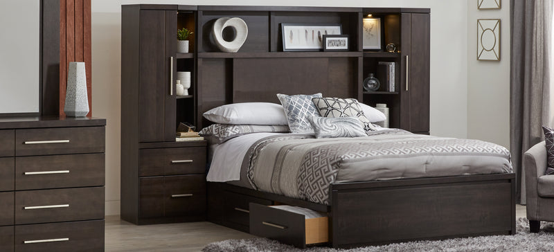 Seville 7-Piece Queen storage Wall Bed