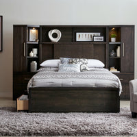 Seville 7-Piece King storage Wall Bed