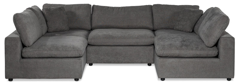 Cirrus 5-Piece Modular Sectional - Grey