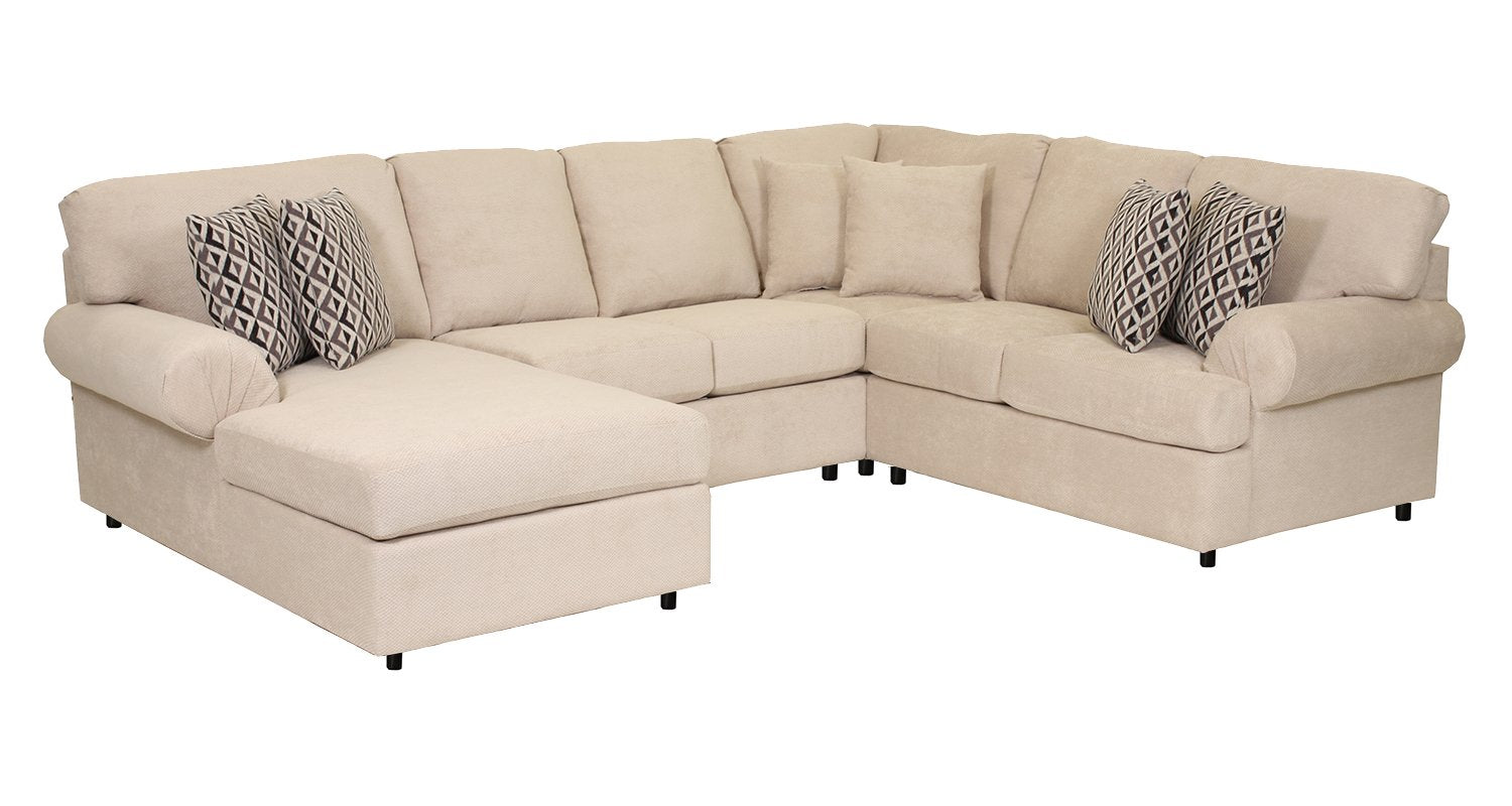 Covina 4 Piece Sectional With Left Facing Chaise Flax Leons