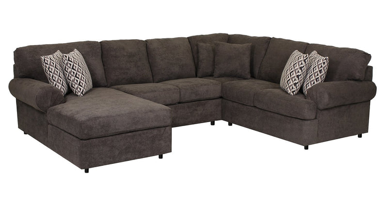 Jupiter 4-Piece Sectional with Left-Facing Chaise - Carbon