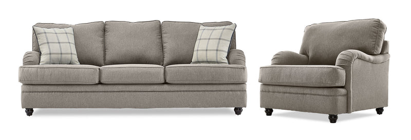 Murphy Sofa and Chair Set - Pewter