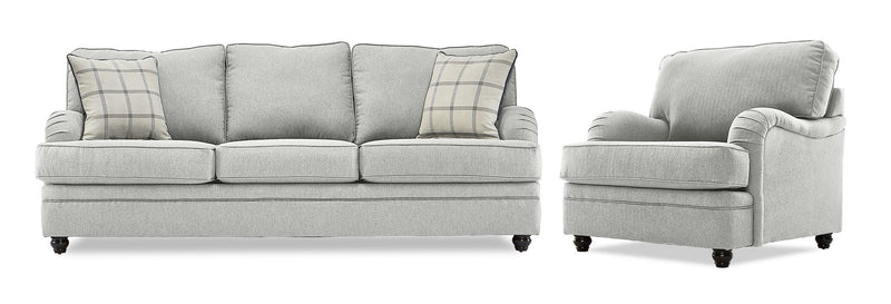 Murphy Sofa and Chair Set - Linen