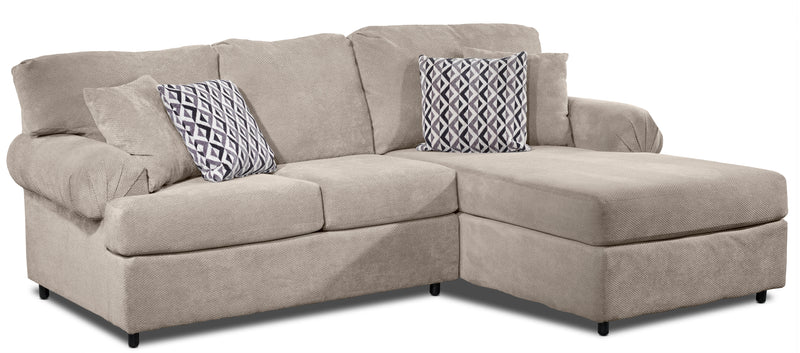 Jupiter 2-Piece Sectional with Right-Facing Chaise - Flax
