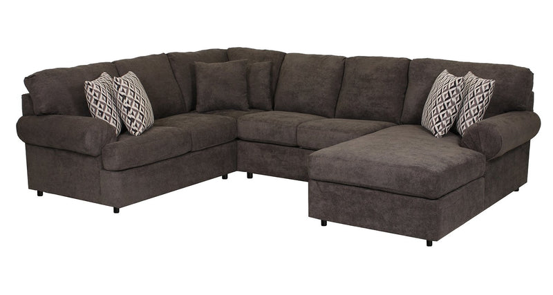 Covina 4-Piece Sectional with Right-Facing Chaise - Carbon