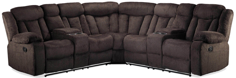 Bryndle 3-Piece Reclining Sectional - Charcoal