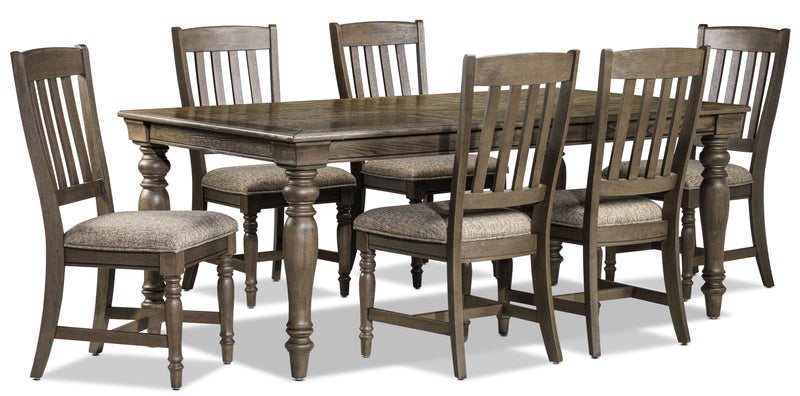 Bilboa 7-Piece Dining Room Set - Roasted Oak