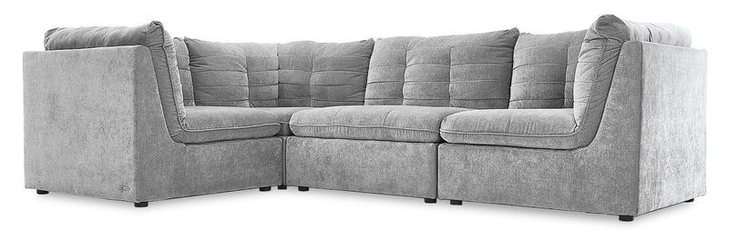 Amigo 4-Piece Modular Sectional - Granite
