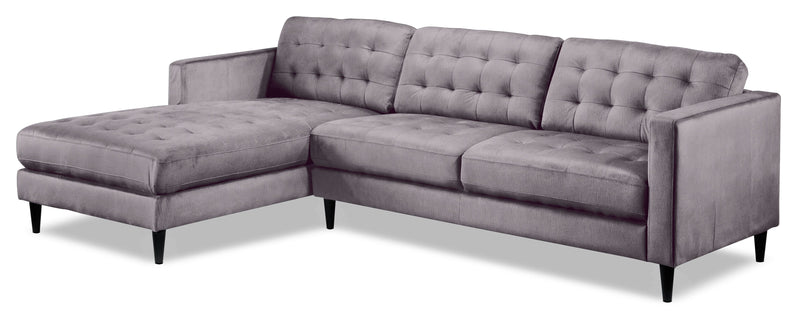 Paragon 2-Piece Sectional with Left-Facing Chaise - Light Grey