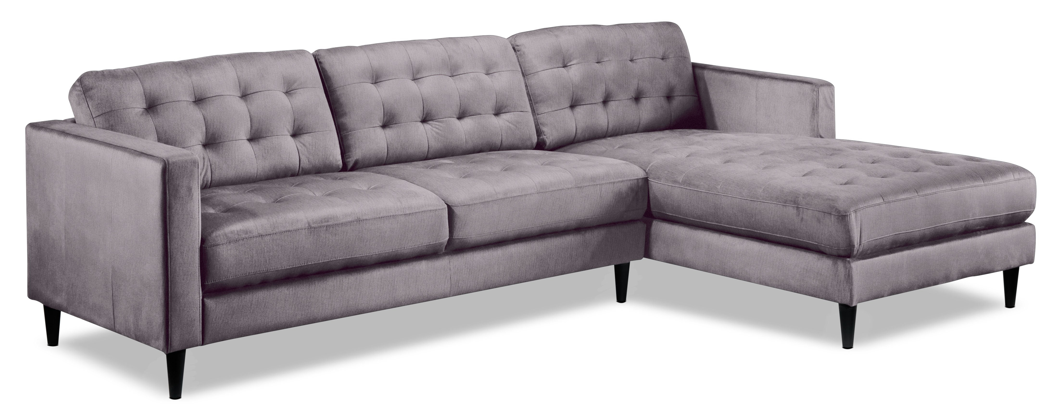 7637c84f442db Paragon 2-Piece Sectional with Right-Facing Chaise - Light Grey