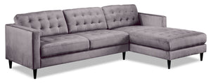 Paragon 2-Piece Sectional with Right-Facing Chaise - Light Grey