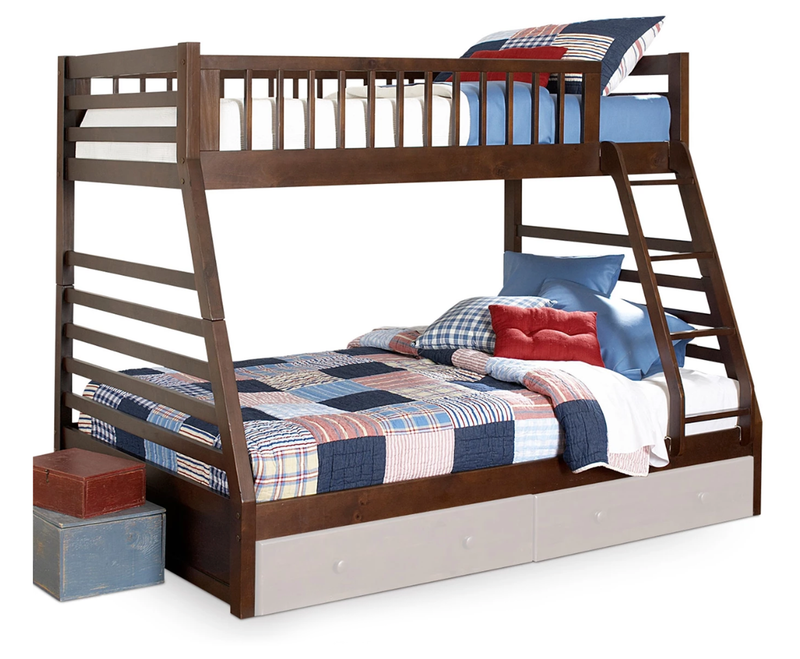 Starship Twin over Full Bunk Bed - Chocolate Cherry