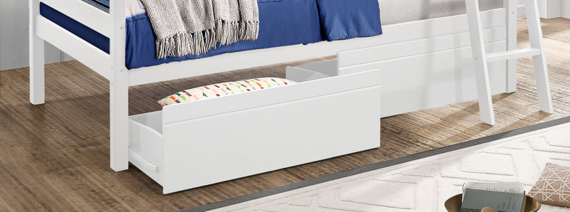 Charlie Bunk Bed Drawers - White