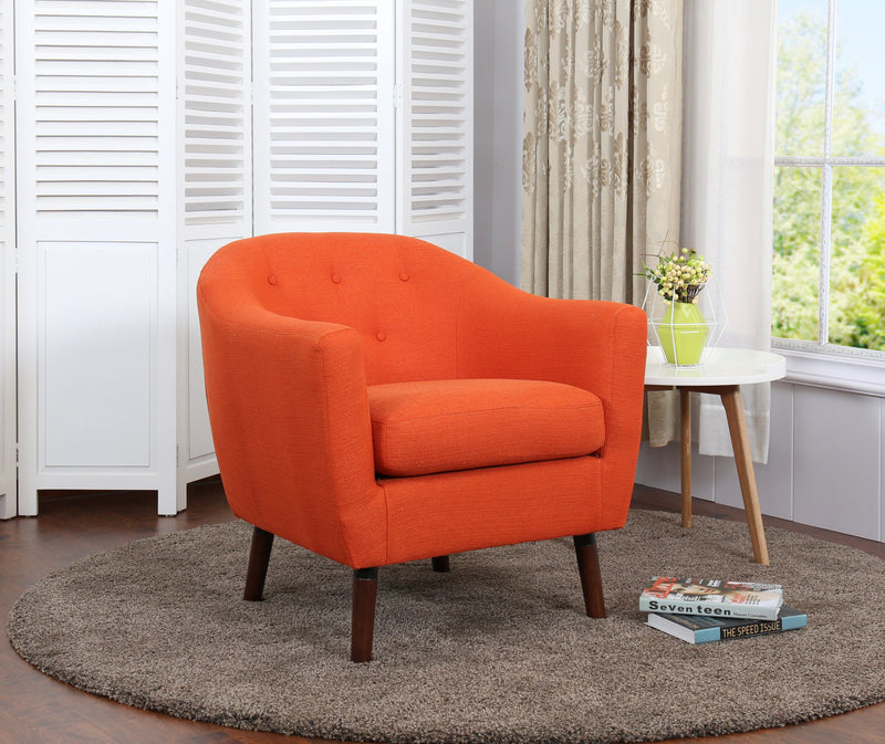 Zia Accent Chair - Orange