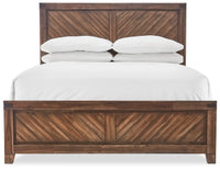 Nathan 6-Piece Queen Bedroom Set - Brown Cherry