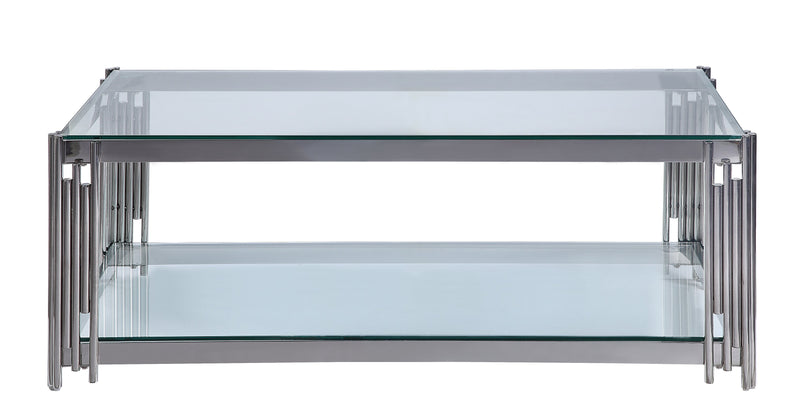 Liana Coffee Table - Glass and Stainless Steel
