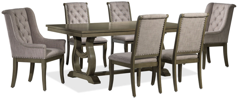 Cleopatra 7-Piece Dining Room Set - Oak