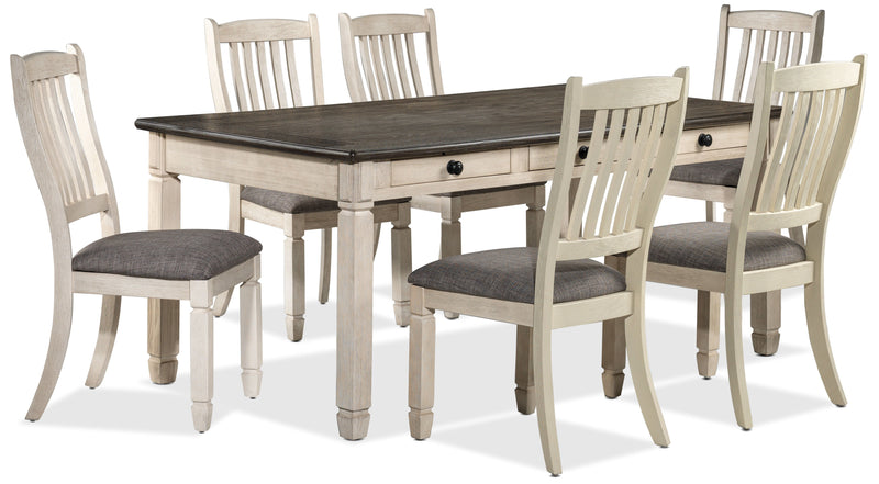 Harold 7-Piece Dinette Set - Antique White