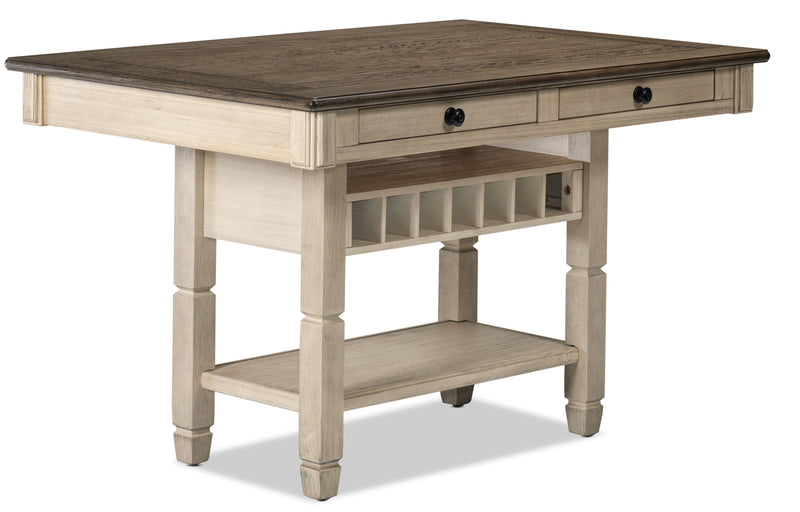 Harold-Pub Height Dining Table - Antique White