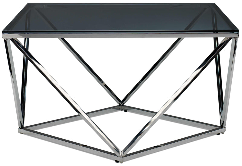 Skylar Coffee Table - Silver and Black