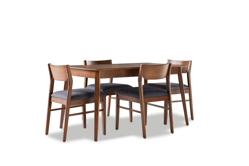 Lenard 5-Piece Dinette Set - Walnut