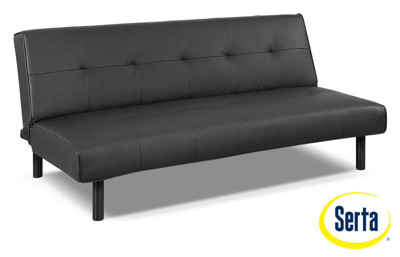 Xoom Convertible Sofa - Black
