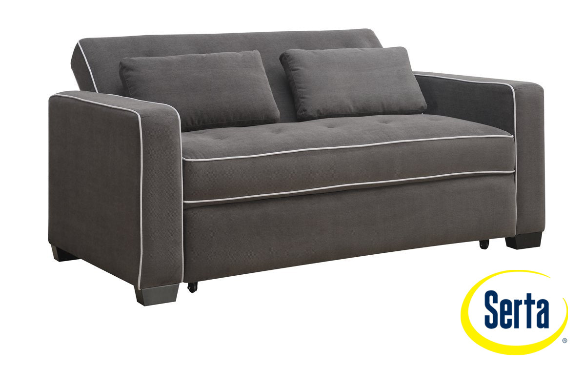 - Augustine Sofa With Queen Size Pop-Up Bed - Grey Leon's