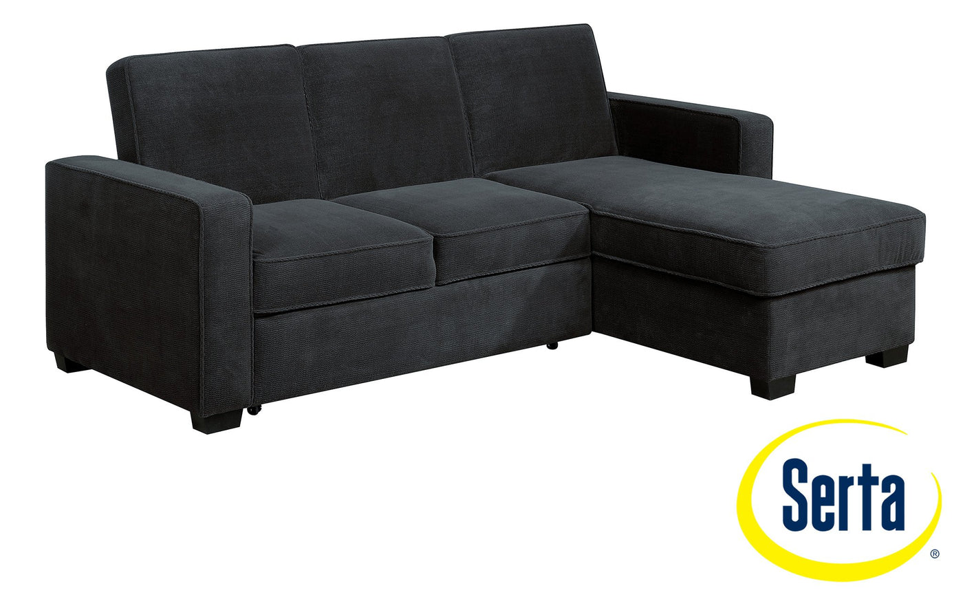 Picture of: Chaela Chaise Sofa With Pop Up Bed Grey Leon S
