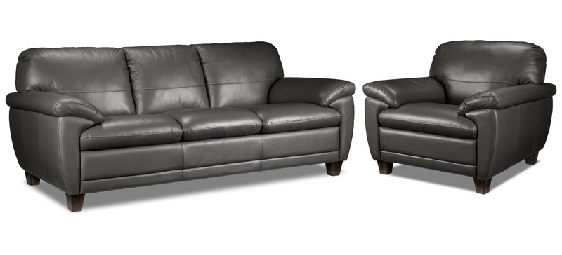 Leonardo Sofa and Chair Set - Grey