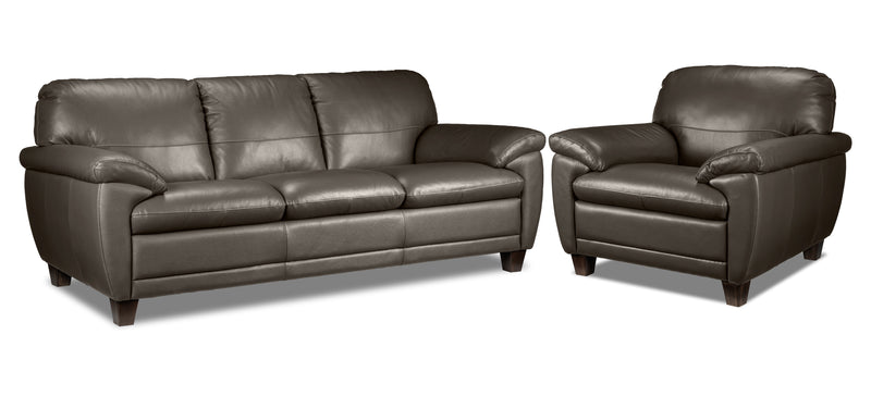Leonardo Sofa and Chair Set - Taupe
