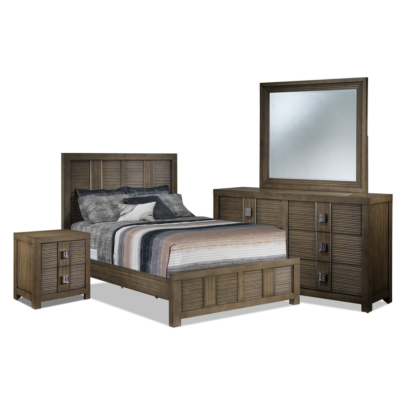 Salon 5-Piece King Bedroom Set - Sable