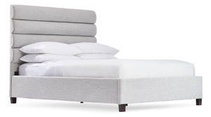 Olivia Queen Bed - Light Grey