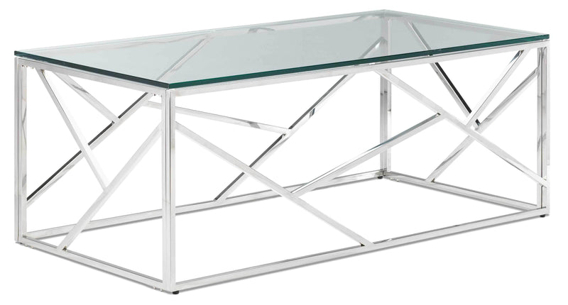 Lexie Coffee Table - Stainless Steel