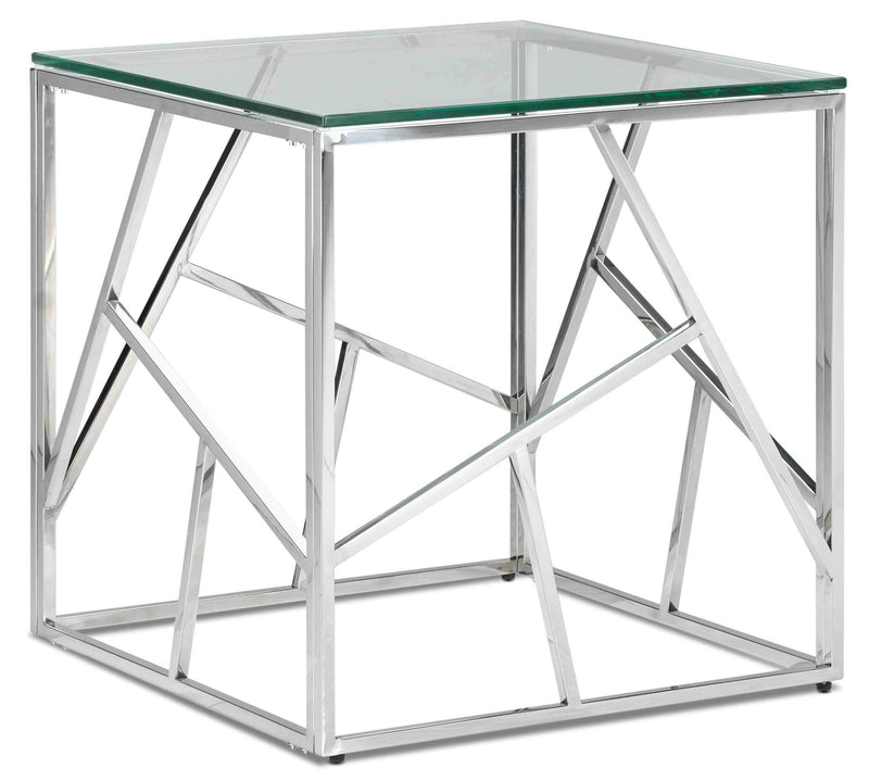 Lexie End Table - Stainless Steel