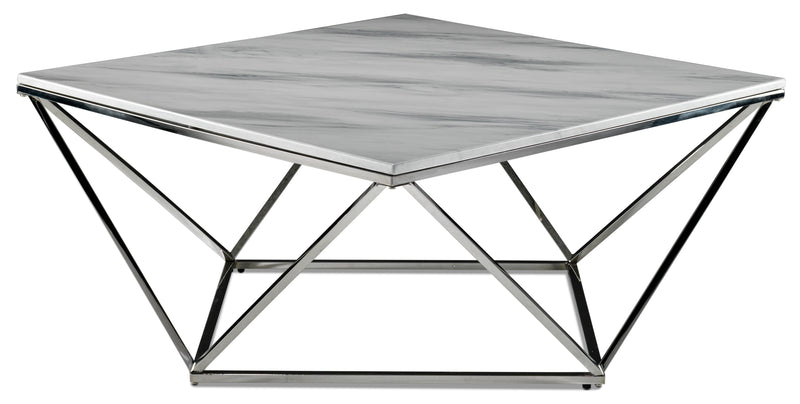 Lynn Coffee Table - Marble and Stainless Steel